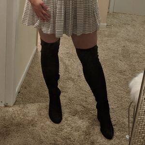 Black thigh high boots size 6.5